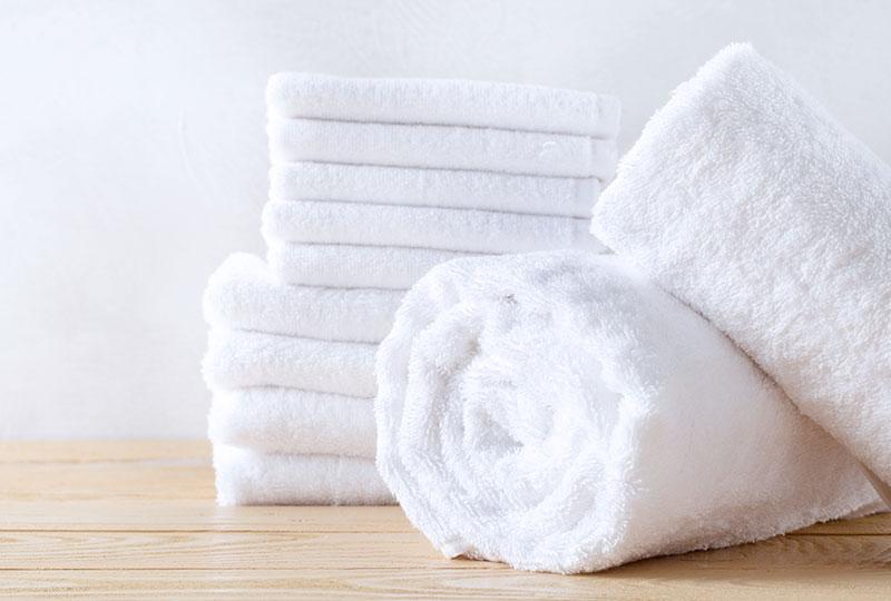 Die Wäscherei Bohnet bietet komplette Wäschesets für Badtextilien