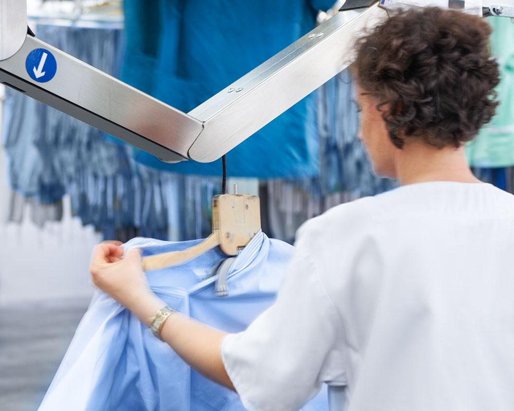 Die Wäscherei Bohnet übernimmt die Lagerung der Wäsche