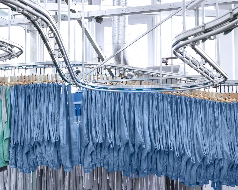 Die Wäscherei Bohnet profitiert von einem ausgeklügeltem Logistiksystem und modernen Waschstraßen