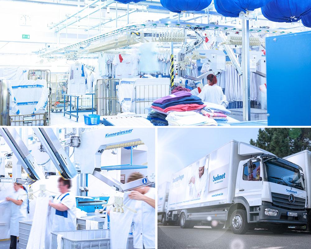 Die Wäscherei Bohnet bedient Kunden aus den Bereichen Senioren- und Pflegeheime mit Personalkleidung und Bewohnerwäsche