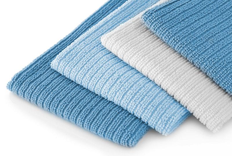 Die Wäscherei Bohnet bietet komplette Sets für Reinigungstextilien