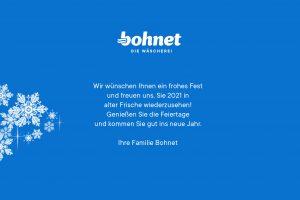 Familie Bohnet wünscht ein frohes Weihnachtsfest 2020